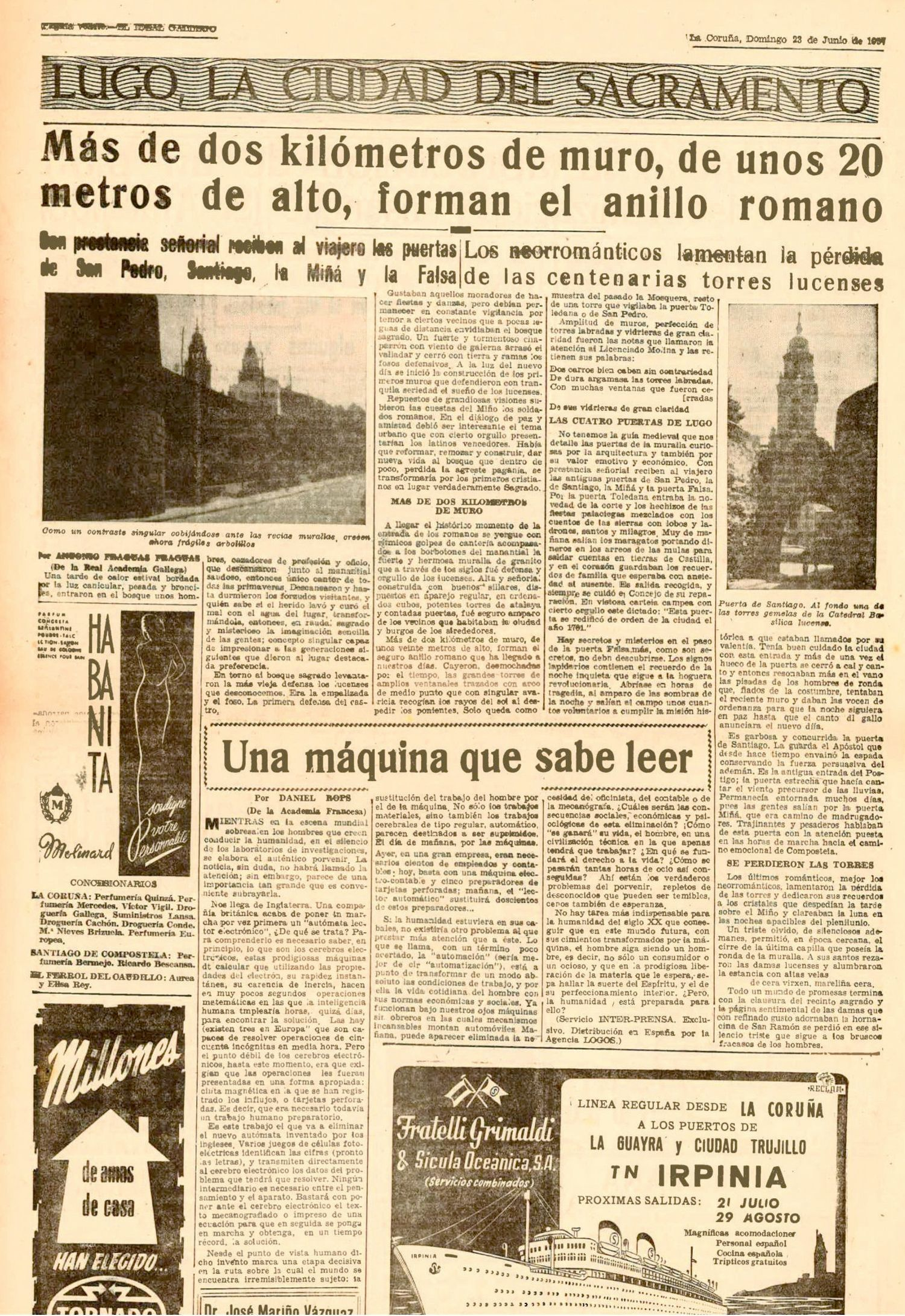 El Ideal Gallego, 23 junio 1957